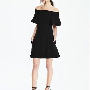 Banana Republic Black Off the Shoulder Dress